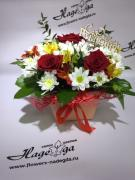 Цветы в коробке №012