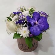 Цветы в коробке №015